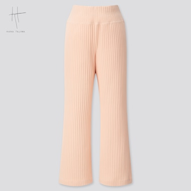 Women Pleated Wide Ankle-Length Pants (Hana Tajima) (Online Exclusive), Pink, Medium