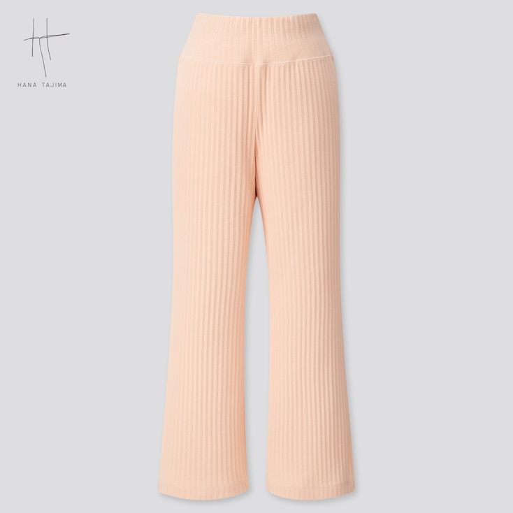 Women Pleated Wide Ankle-Length Pants (Hana Tajima) (Online Exclusive), Pink, Large