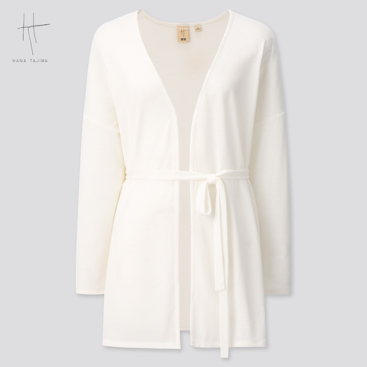 Women Long-Sleeve Stole Cardigan (Hana Tajima) (Online Exclusive), White, Large