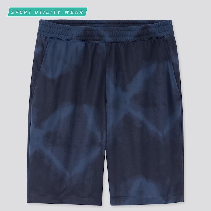 Men Dry-Ex Printed Shorts, Blue, Large
