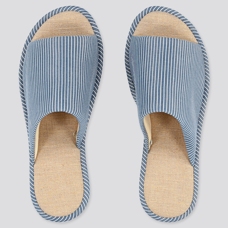 Hickory Slippers, Blue, Large