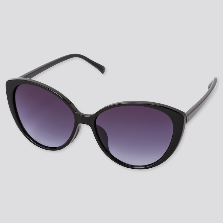Cat Eyes Sunglasses, Black, Large