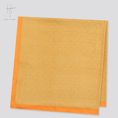 Women Square Stole (Hana Tajima) (Online Exclusive), Yellow, Medium