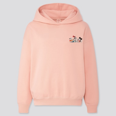 Women Disney Stories Long-Sleeve Hooded Sweatshirt, Pink, Medium