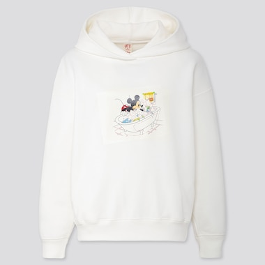 Women Disney Stories Long-Sleeve Hooded Sweatshirt, Off White, Medium