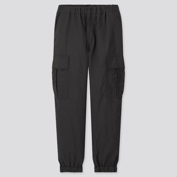 Kids Wide-Fit Cargo Jogger Pants, Black, Large