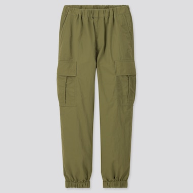 Kids Wide-Fit Cargo Jogger Pants, Olive, Medium