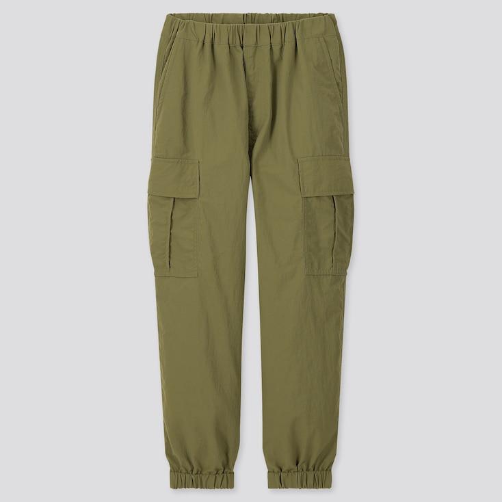 Kids Wide-Fit Cargo Jogger Pants, Olive, Large