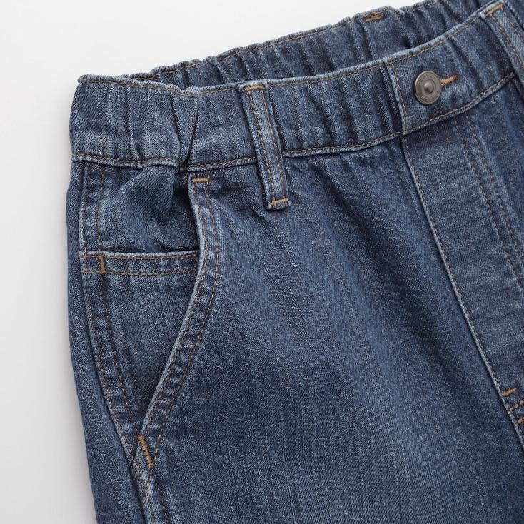Kids Wide-Fit Denim Painter Pants, Blue, Large