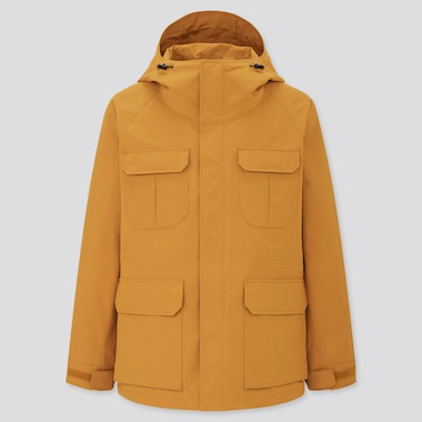 Men Mountain Parka, Yellow, Medium