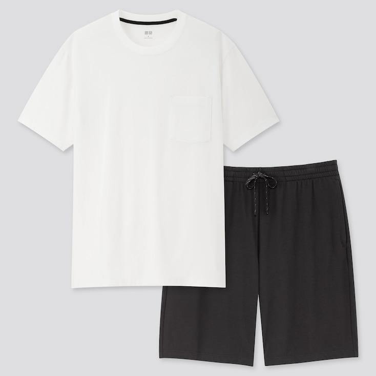 Men Airism Short-Sleeve Set (Online Exclusive), White, Large