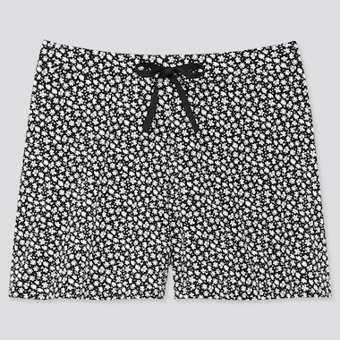 Women Beach Flare Short Pants (Online Exclusive), Black, Medium