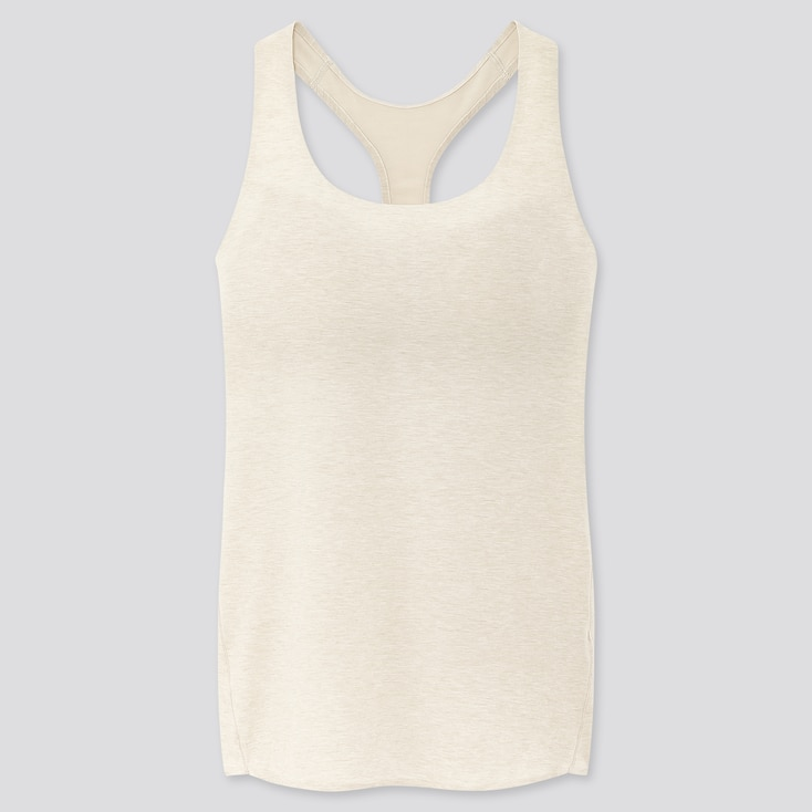 Women Airism Seamless Sleeveless Bra Top, Light Gray, Large