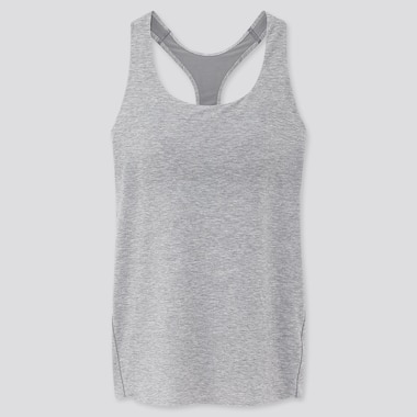 Women Airism Seamless Bra Sleeveless Top, Gray, Medium
