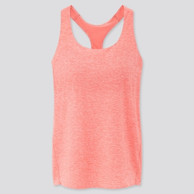 Women Airism Seamless Bra Sleeveless Top, Pink, Medium