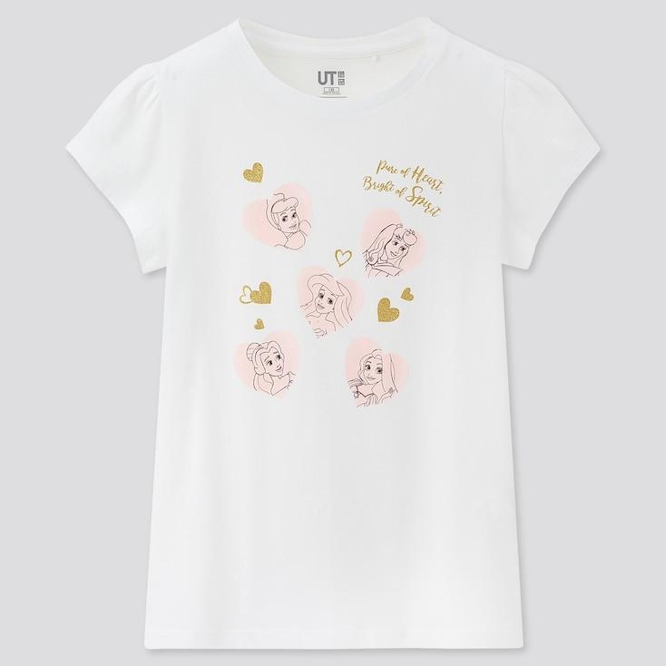 Kids Disney Heroines Ut (Short-Sleeve Graphic T-Shirt), White, Large