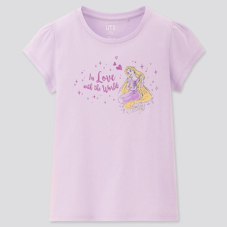 Kids Disney Heroines Ut (Short-Sleeve Graphic T-Shirt), Light Purple, Large