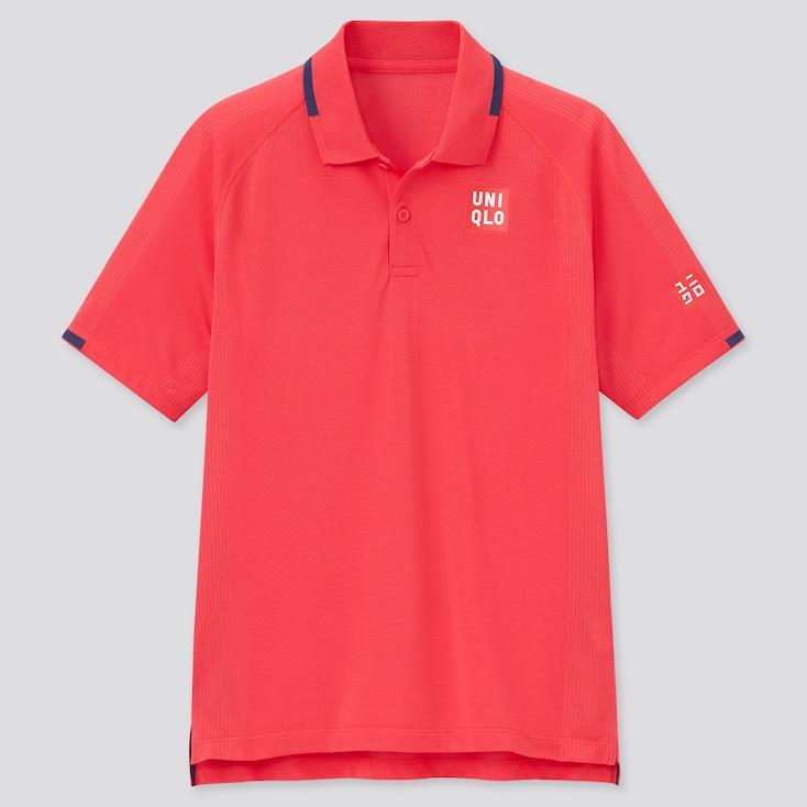 Men Dry-Ex Polo Shirt (Roger Federer), Red, Large