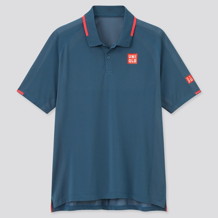Men Dry-Ex Polo Shirt (Roger Federer), Blue, Large