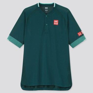 Men Dry-Ex Polo Shirt (Roger Federer), Dark Green, Medium