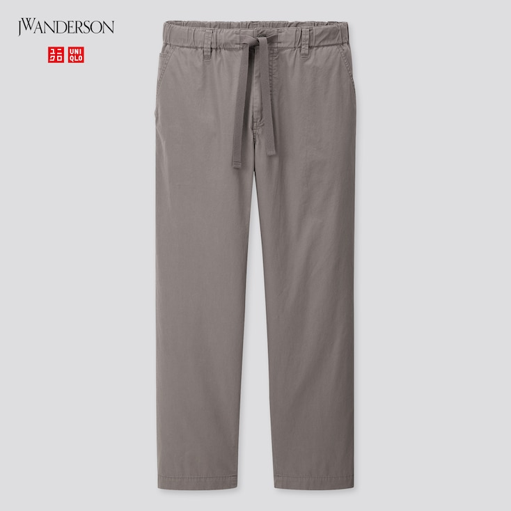 Men Relaxed Drawstring Pants (Jw Anderson), Gray, Large