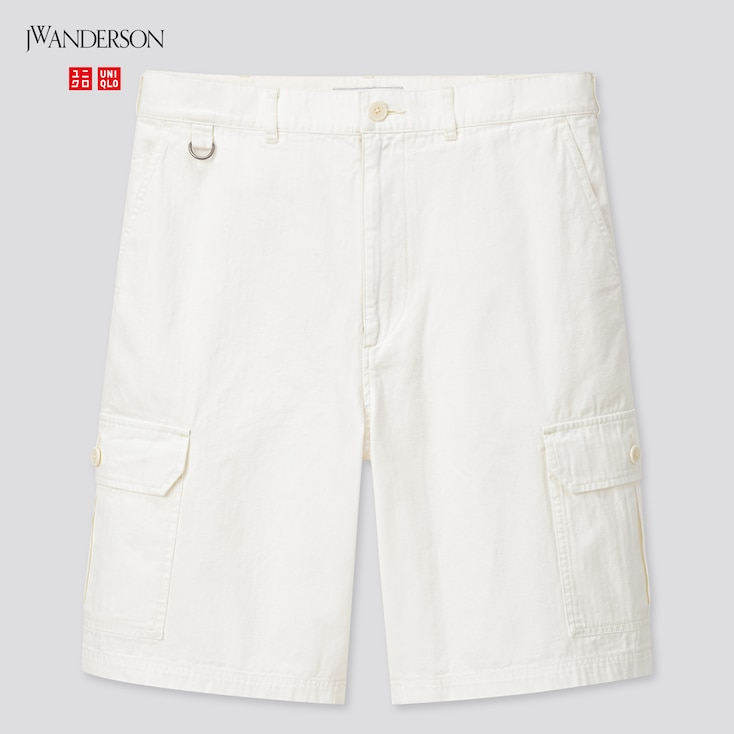 Men Cargo Shorts (Jw Anderson), Off White, Large