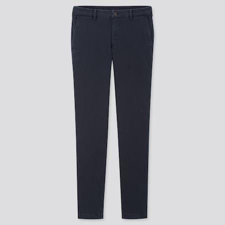 Pantaloni Chino Cotone Elastico Skinny Uomo