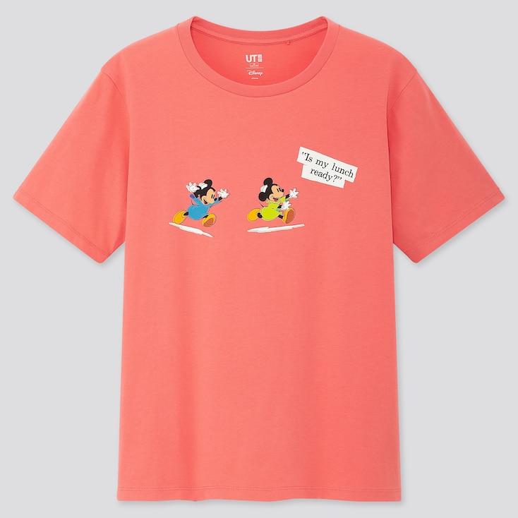 Women Disney Stories Ut (Short-Sleeve Graphic T-Shirt), Pink, Large