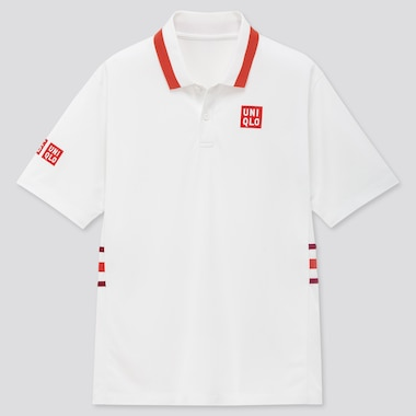 Men Dry-Ex Polo Shirt (Kei Nishikori 20aus), White, Medium