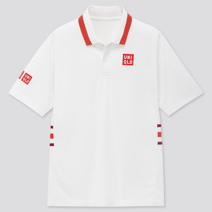 Men Dry-Ex Polo Shirt (Kei Nishikori 20aus), White, Large