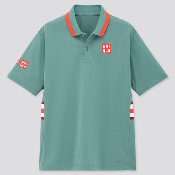 Men Dry-Ex Polo Shirt (Kei Nishikori 20aus), Blue, Large