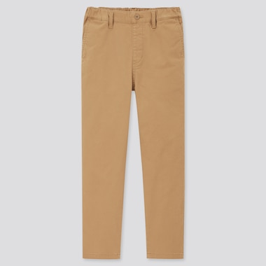 Kids Ultra Stretch Regular-Fit Pull-On Chino Pants, Brown, Medium