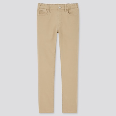 Kids Ultra Stretch Slim-Fit Pull-On Pants, Beige, Medium