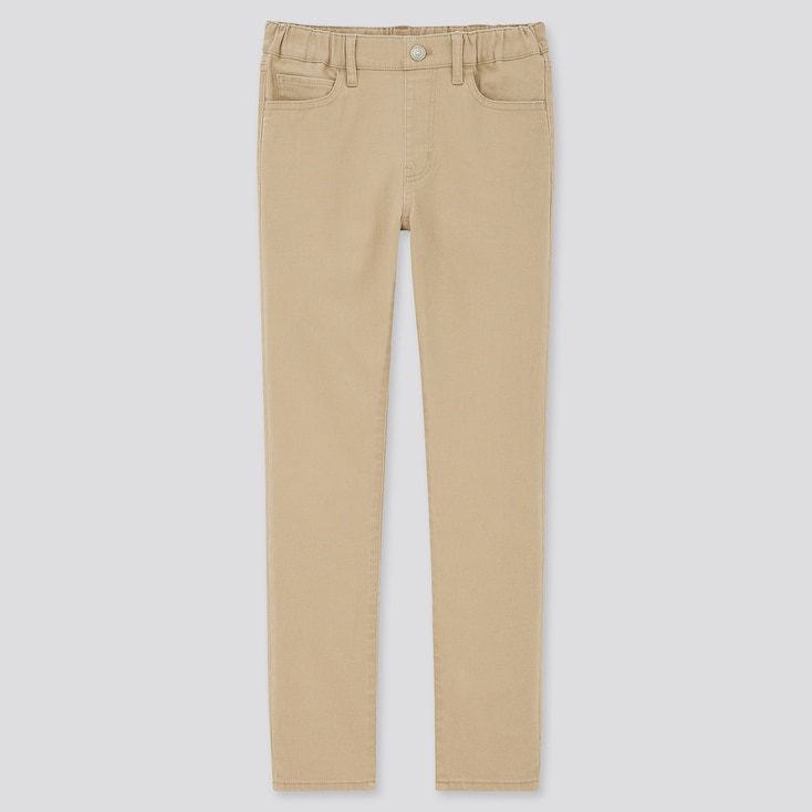 Kids Ultra Stretch Slim-Fit Pull-On Pants (Online Exclusive), Beige, Large