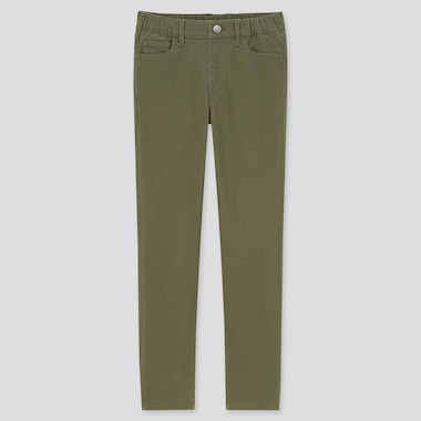 Kids Ultra Stretch Slim-Fit Pull-On Pants (Online Exclusive), Olive, Medium