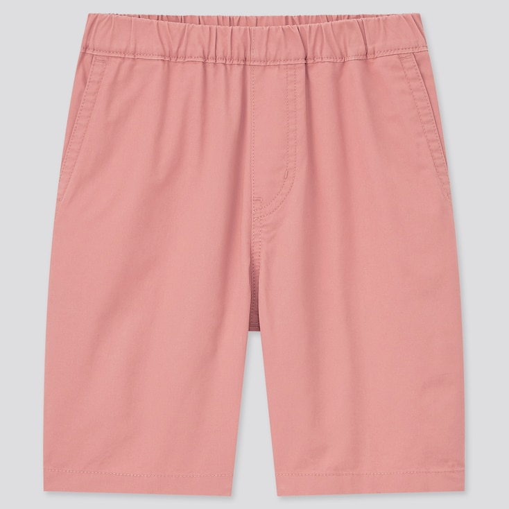Kids Twill Easy Shorts, Pink, Large