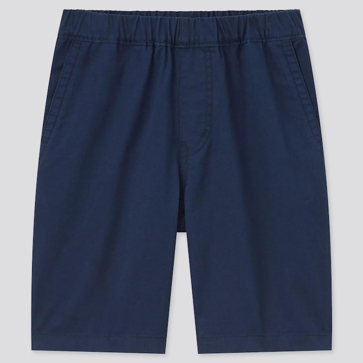 Kids Twill Easy Shorts, Navy, Large