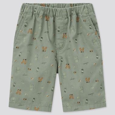 Kids Easy Shorts, Green, Medium