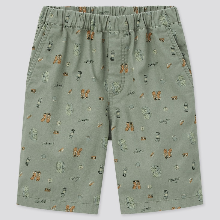 Kids Easy Shorts, Green, Large