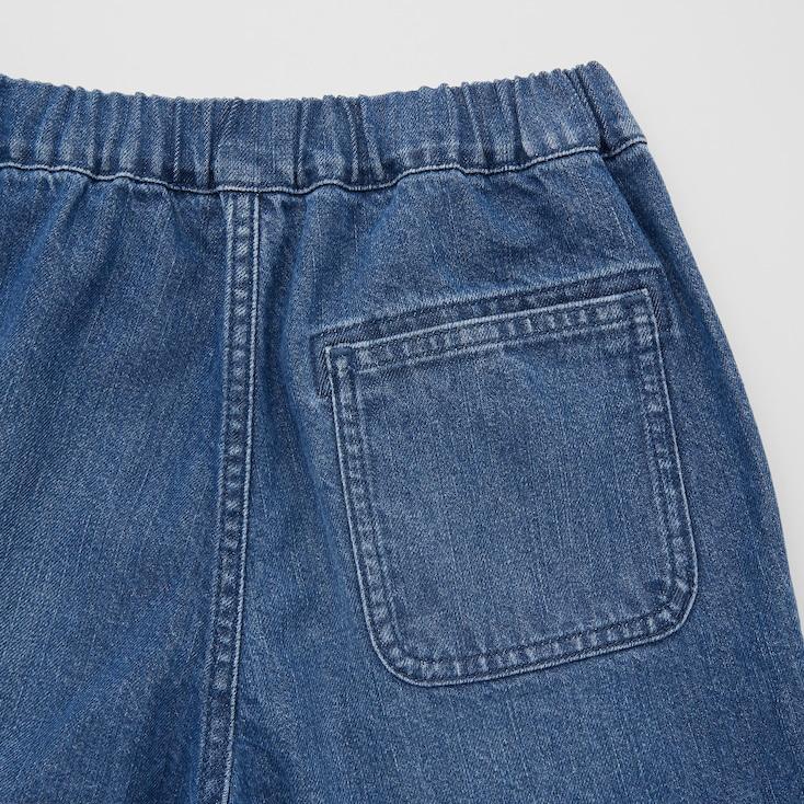 Kids Denim Easy Shorts, Blue, Large