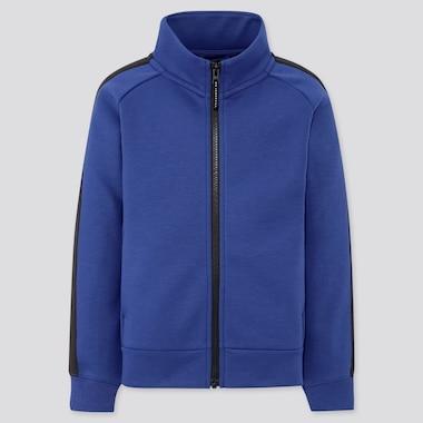 Kids Dry Stretch Sweat Full-Zip Blouson, Blue, Medium