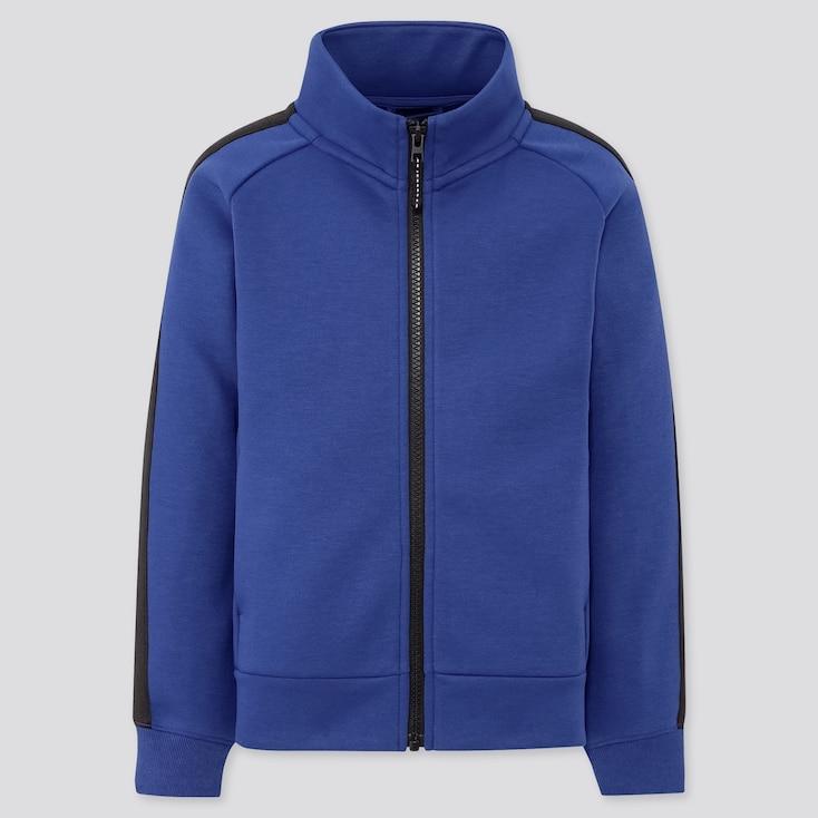 Kids Dry Stretch Sweat Full-Zip Blouson, Blue, Large