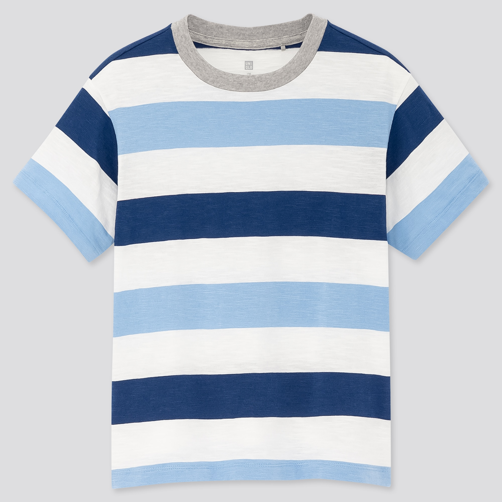 kids slub striped crew neck short-sleeve t-shirt