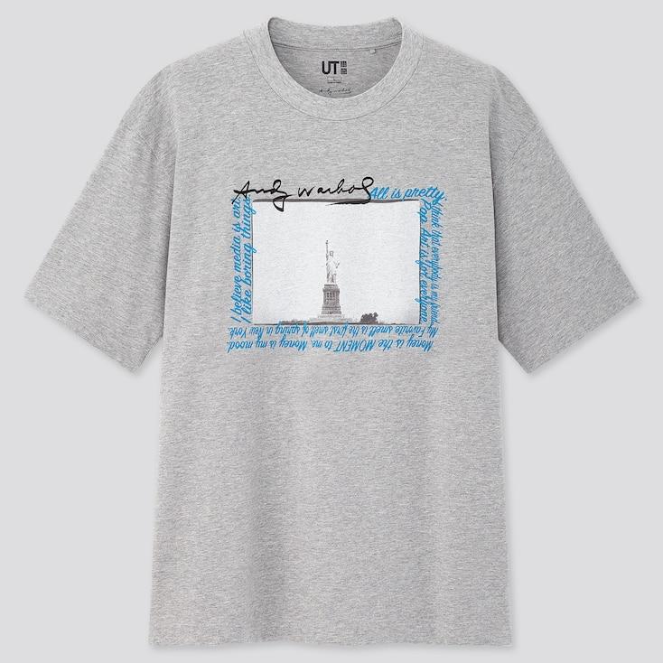 Andy Warhol Ut (Short-Sleeve Graphic T-Shirt), Gray, Large