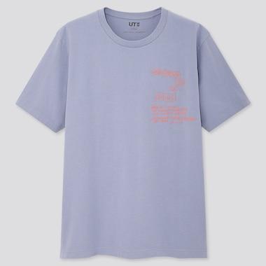 Crossing Lines Ut Jean-Michel Basquiat (Short-Sleeve Graphic T-Shirt), Blue, Medium