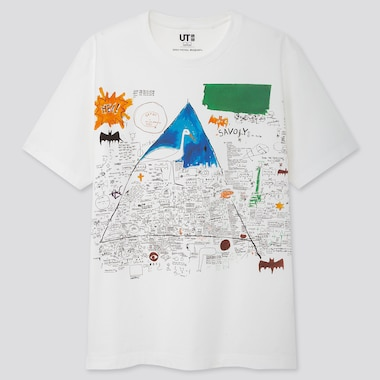 Crossing Lines Ut Jean-Michel Basquiat (Short-Sleeve Graphic T-Shirt), White, Medium