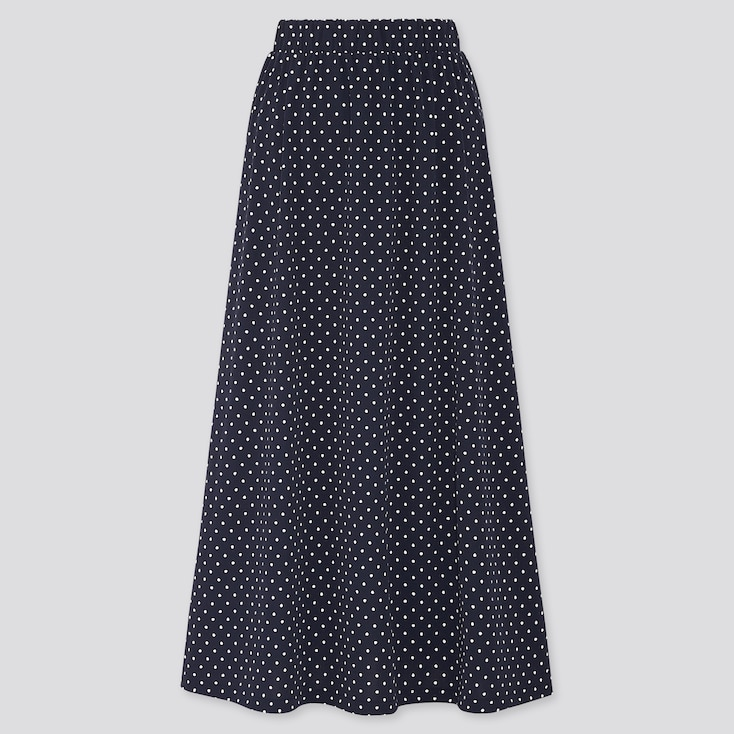 Women Joy Of Print Crepe Jersey Skirt, Navy, Large