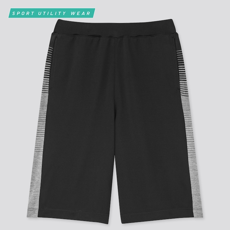 Kids Dry-Ex Knee-Length Pants, Black, Large