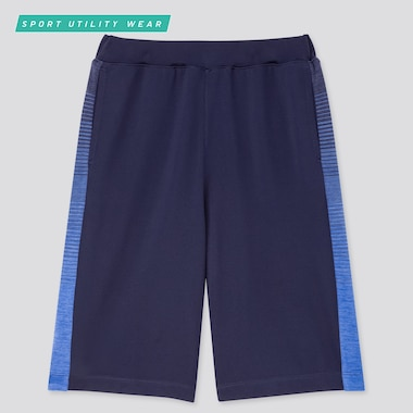 Kids Dry-Ex Knee-Length Pants, Navy, Medium