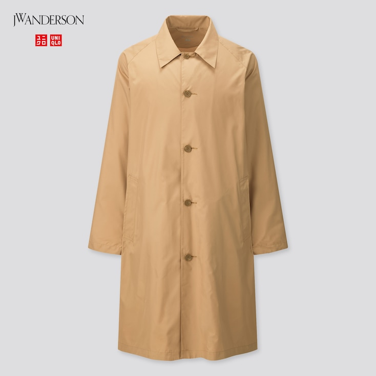 Men Pocketable Single Breasted Coat (Jw Anderson), Beige, Large